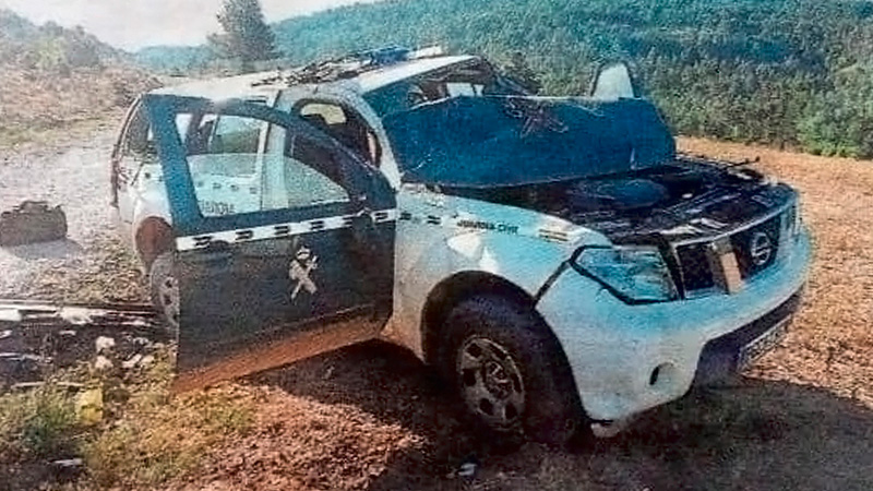 Accidente Guardia Civil jabalí
